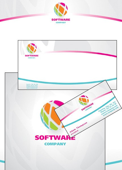 Software Company Corporate Identity Template Vector Corporate Identity preview