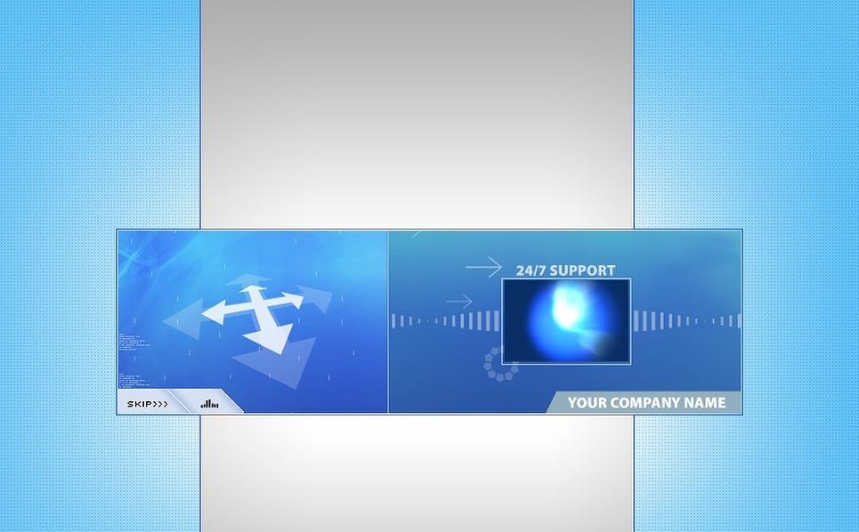 Flash ролик №2506 на тему Шаблон хостинга New Screenshots BIG