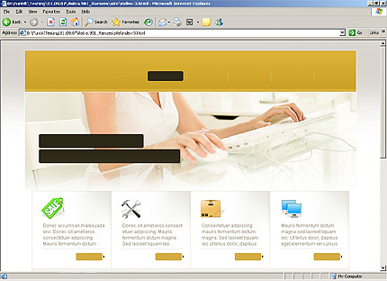Page d'accueil HTML du kit graphique #25095