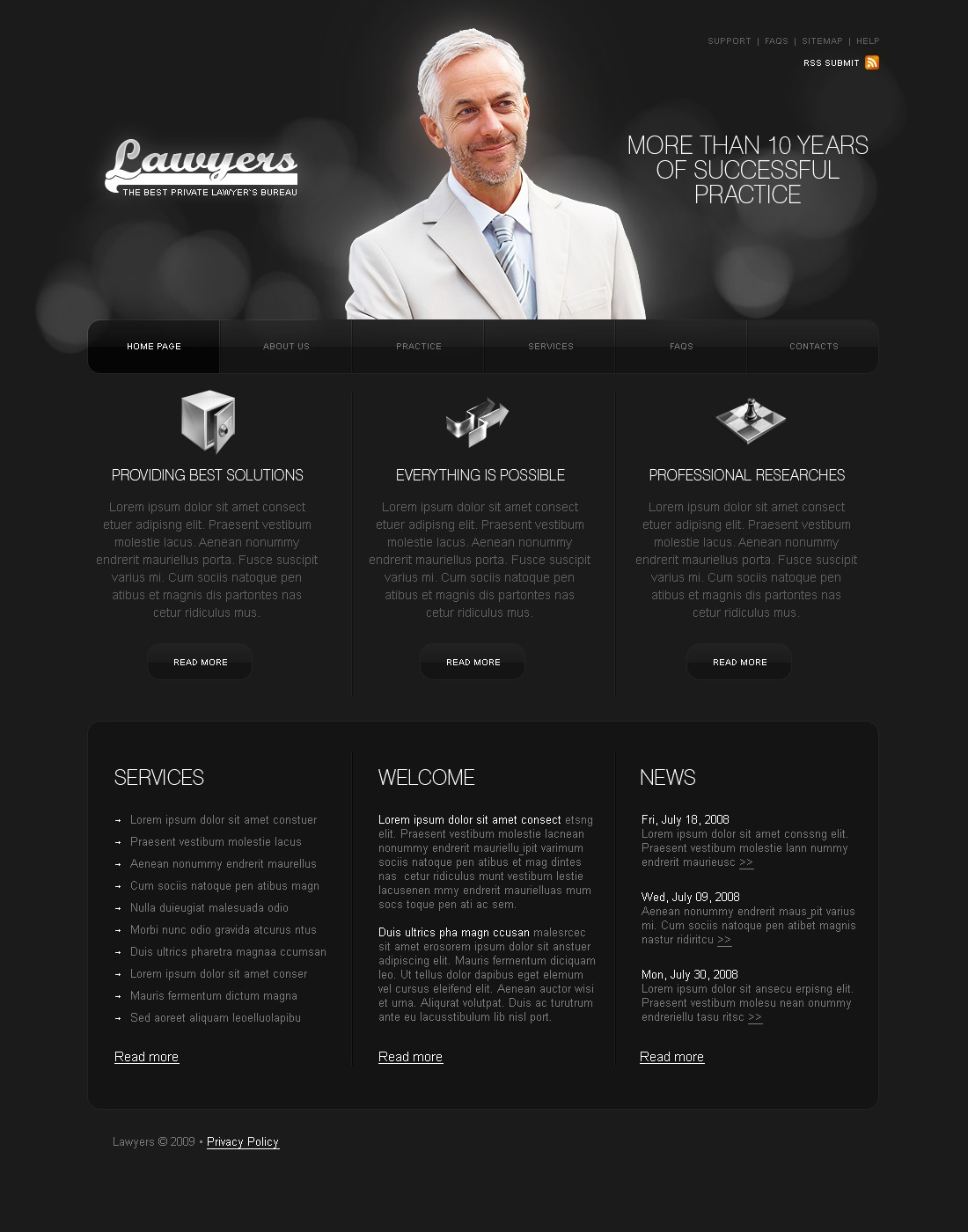 Lawyer Website Template By WT Website Templates - Lawyer website template