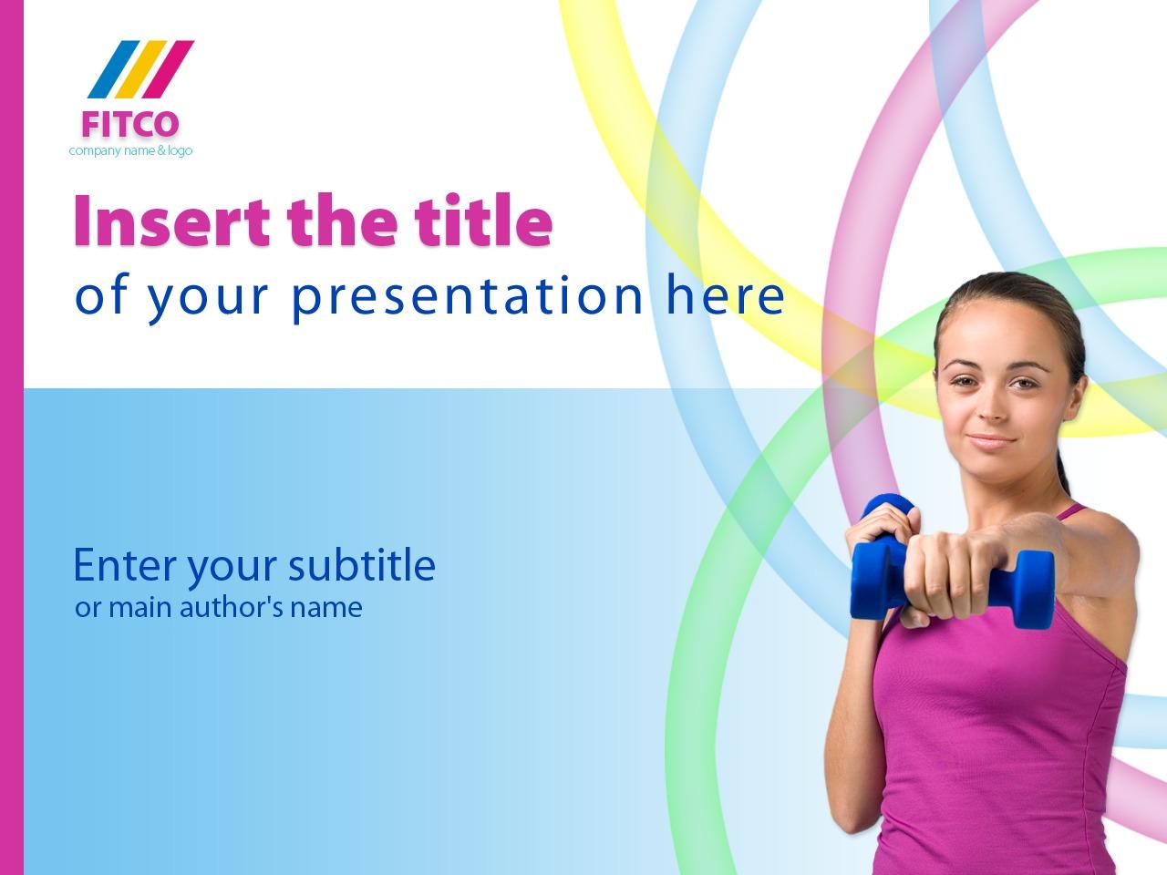 Modello PowerPoint #25013 per Un Sito di Fitness