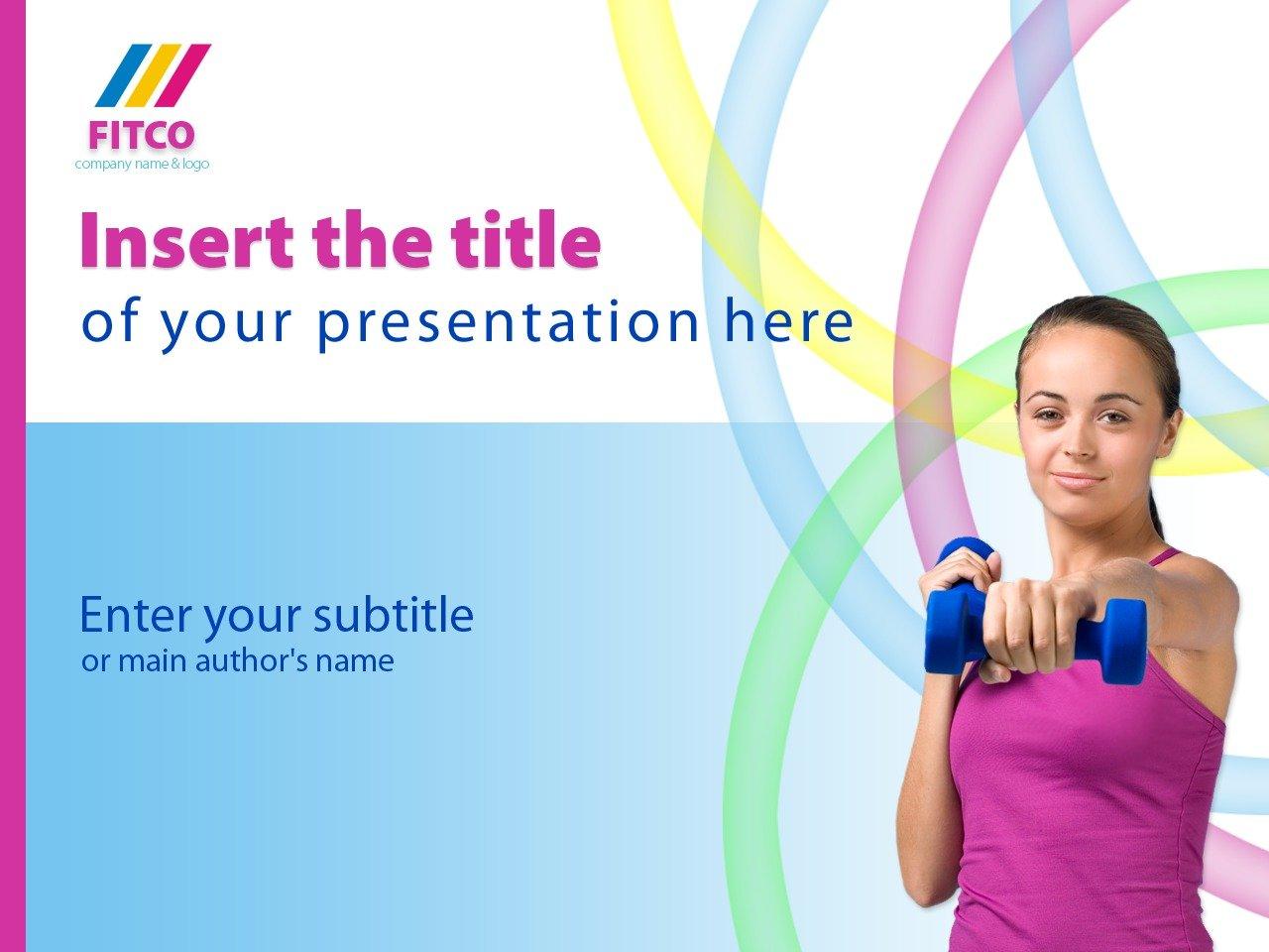 PowerPoint шаблон на тему фітнес №25013