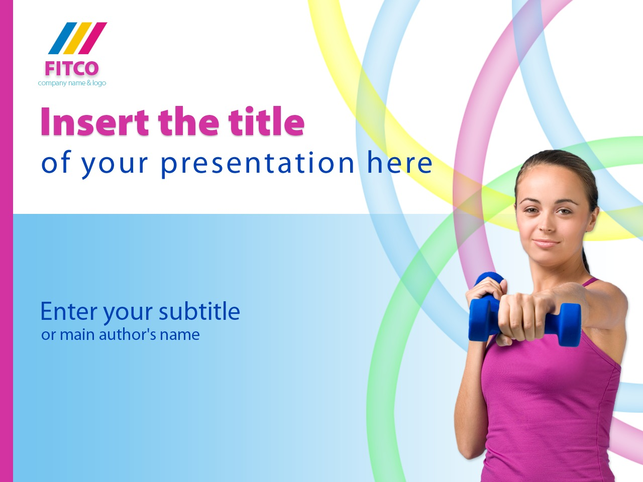 PowerPoint шаблон №25013 на тему фитнес - скриншот
