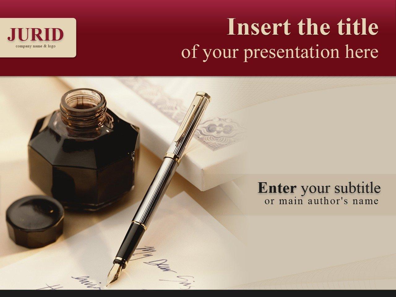 PowerPoint шаблон №25035 на тему юрист