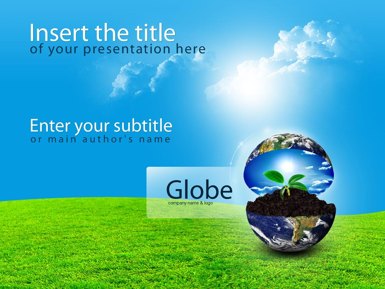 PowerPointmall för handelshögskola #25082