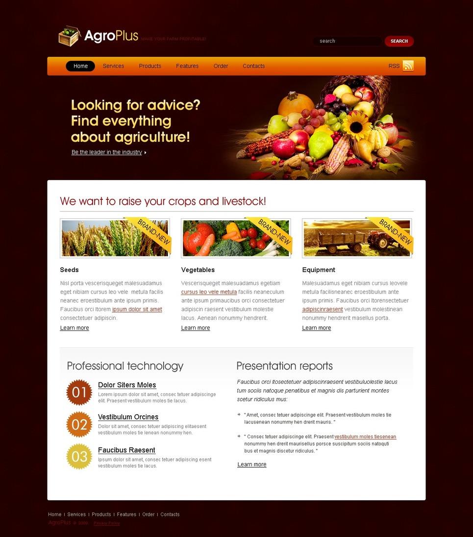 Tema siti web per un sito di agricoltura for Siti web di home plan