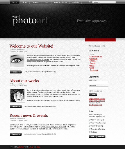 JOOMLA TEMPLATES PHOTOGRAPHY FREE