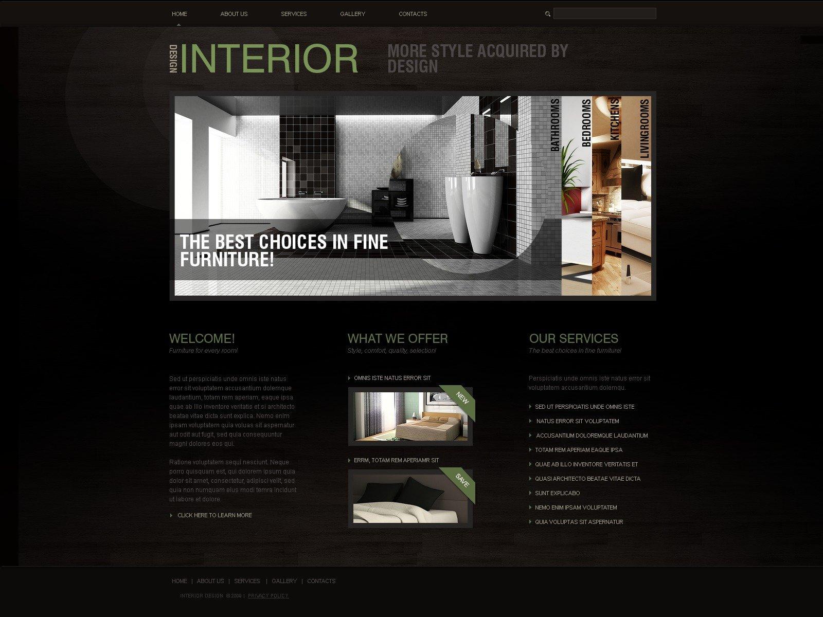 Interior Design Website Template 25162