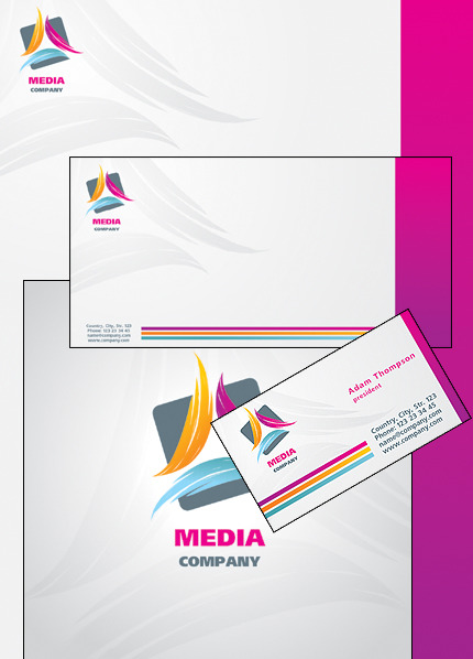 Media Corporate Identity Template Vector Corporate Identity preview