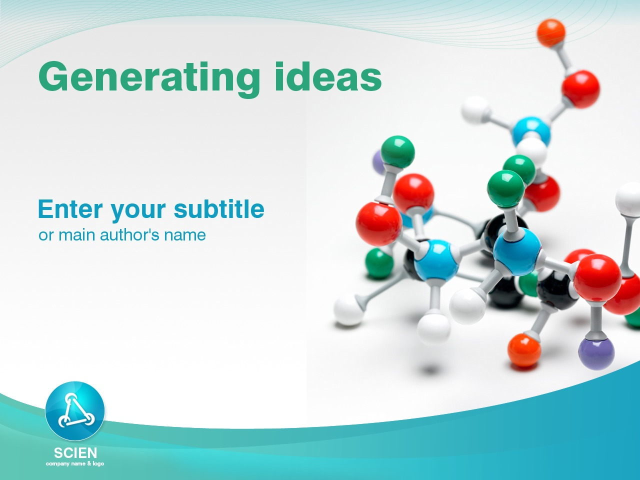 PowerPoint Template over Wetenschappelijke №25147