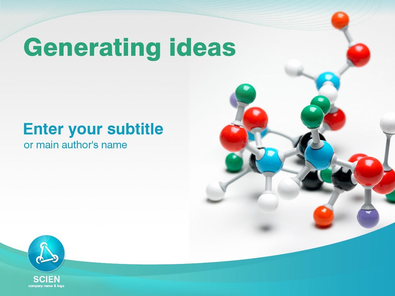 PowerPointmall för Vetenskap #25147