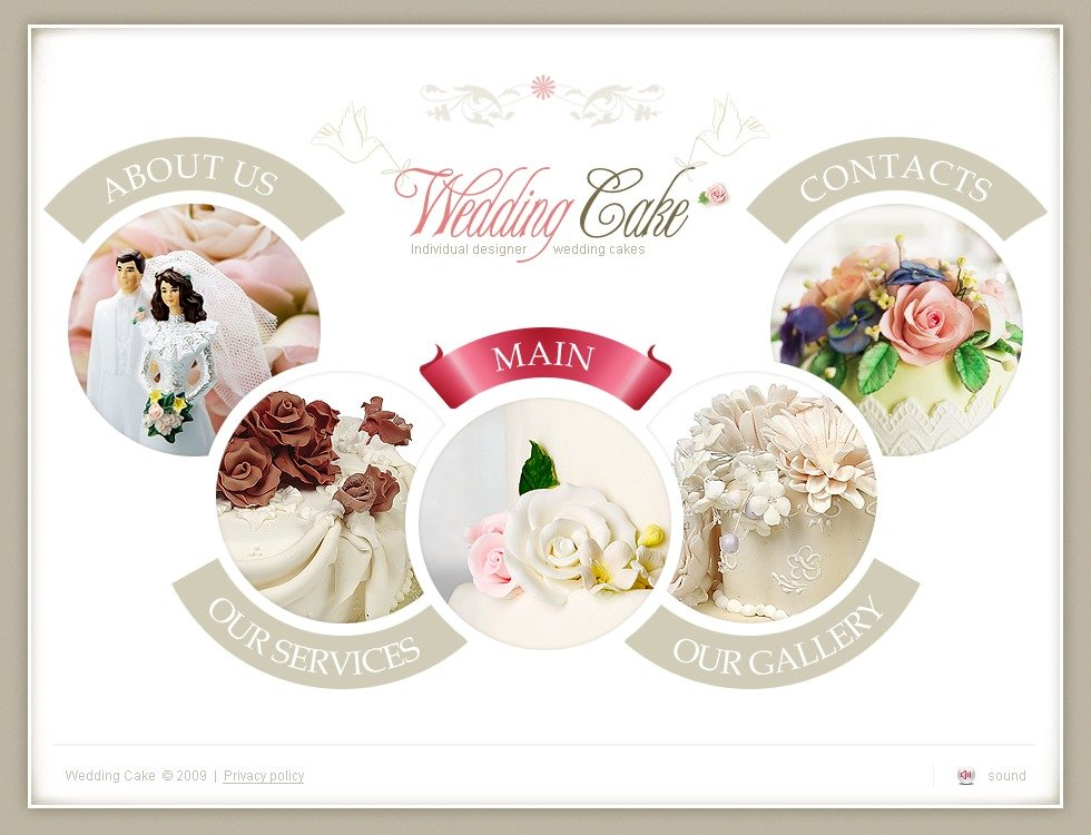Cake Designs Website : Wedding Cake Flash Template #25117