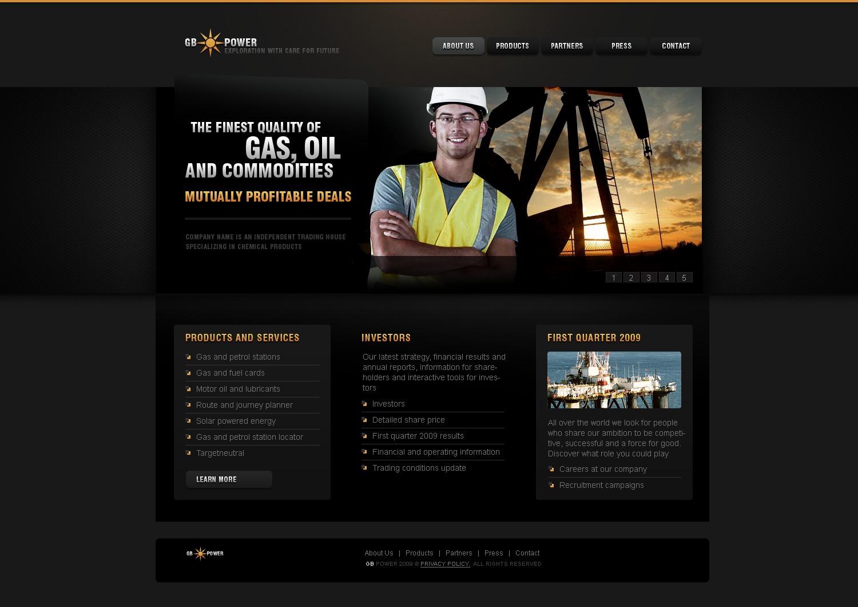 gas oil website template 25268. Black Bedroom Furniture Sets. Home Design Ideas