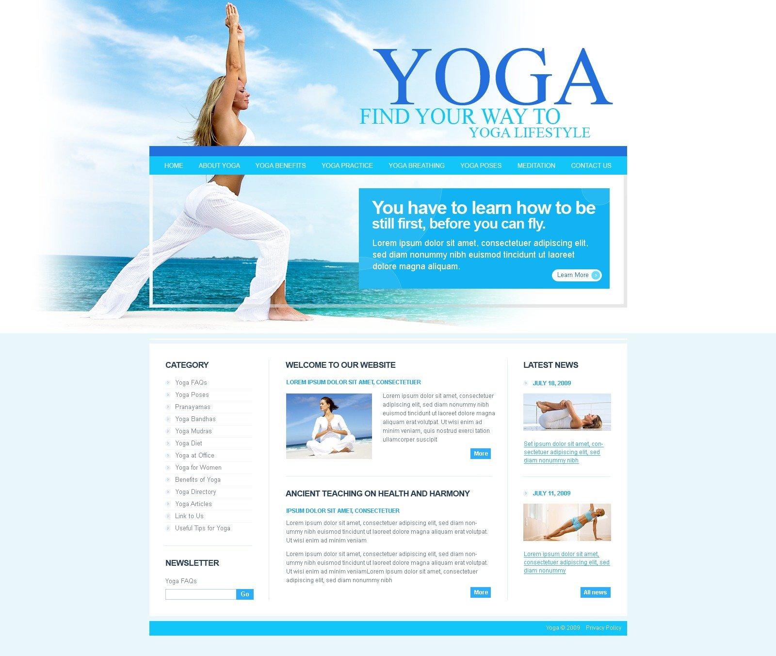Yoga Website Template #25227