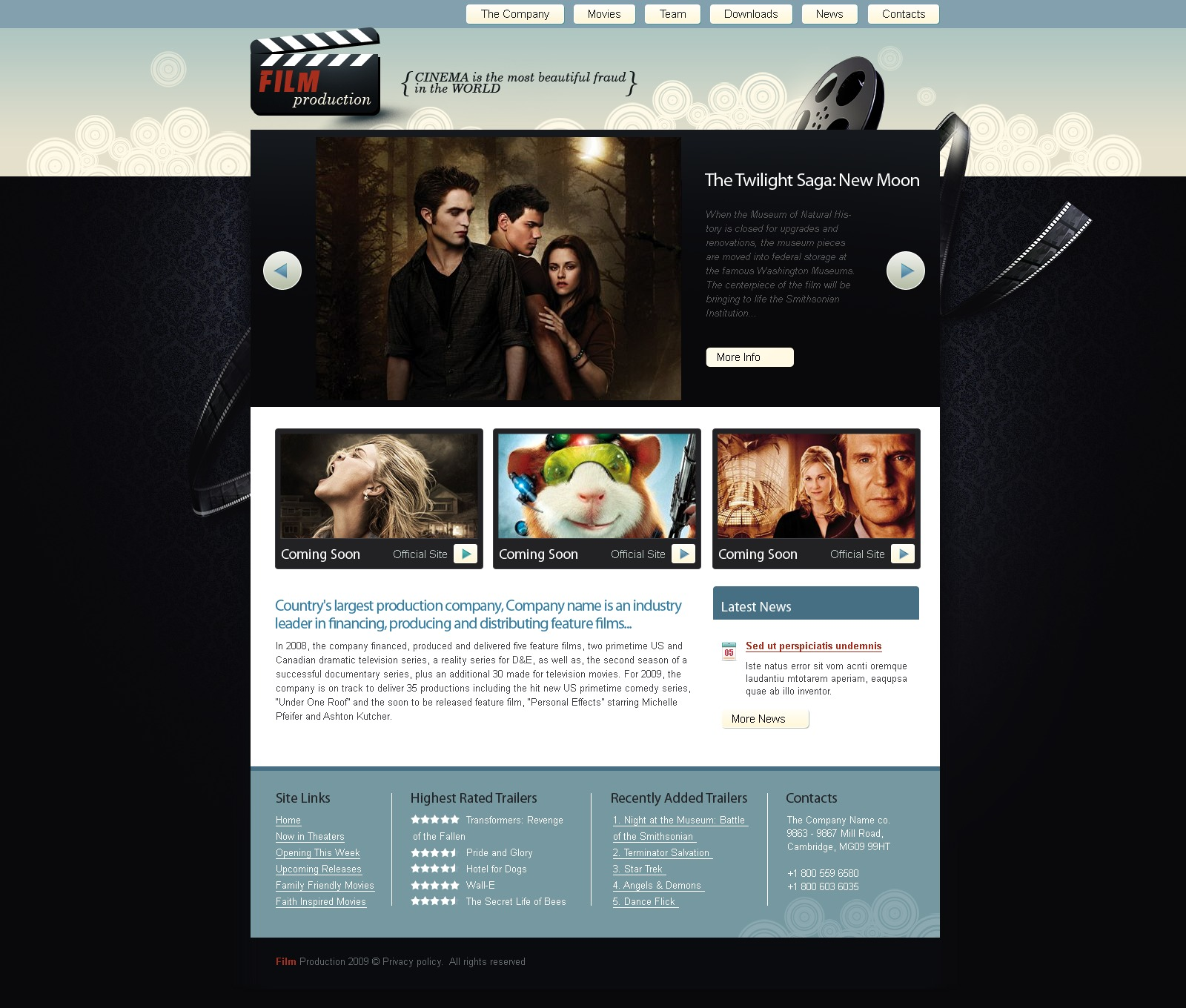 movie website template 25353. Black Bedroom Furniture Sets. Home Design Ideas