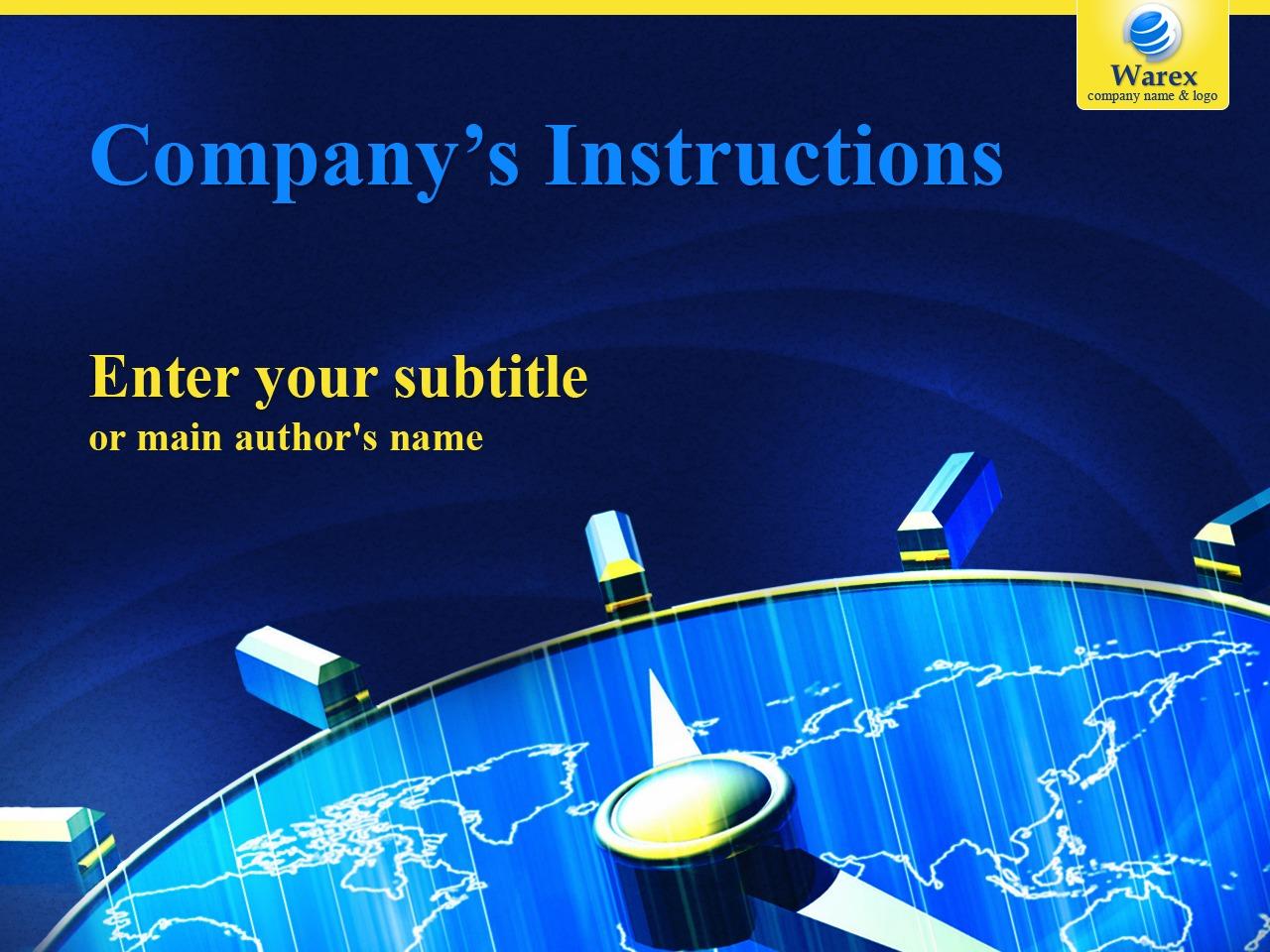 Business & Services PowerPoint Template - screenshot