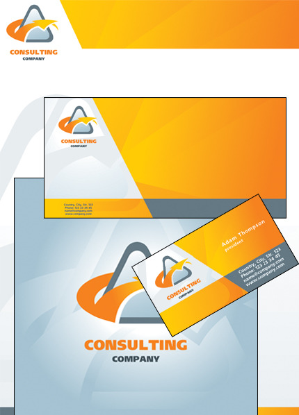 Consulting Corporate Identity Template Vector Corporate Identity preview