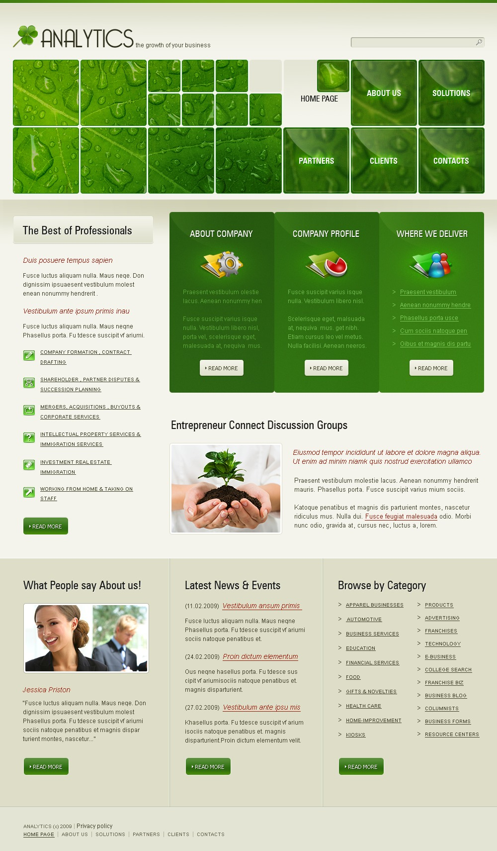 Consulting website template 25443 for Consulting website