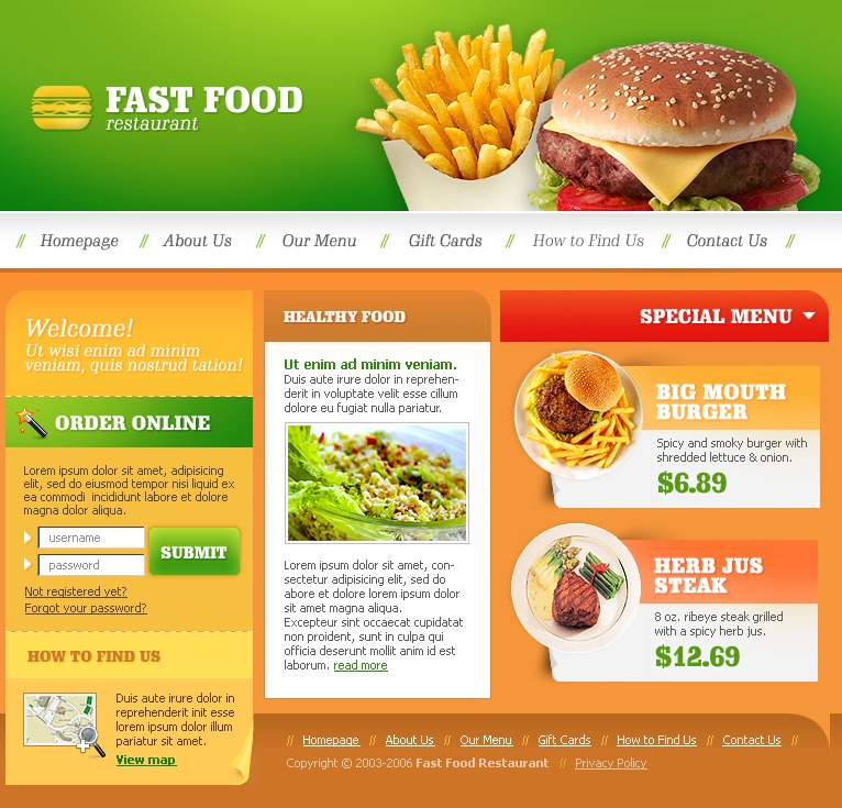 Fast Food Restaurant Turnkey Website - Us map of fast food restaurants