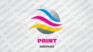 Print Shop Logo Template vlogo