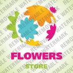 Flowers Logo  Template 25502