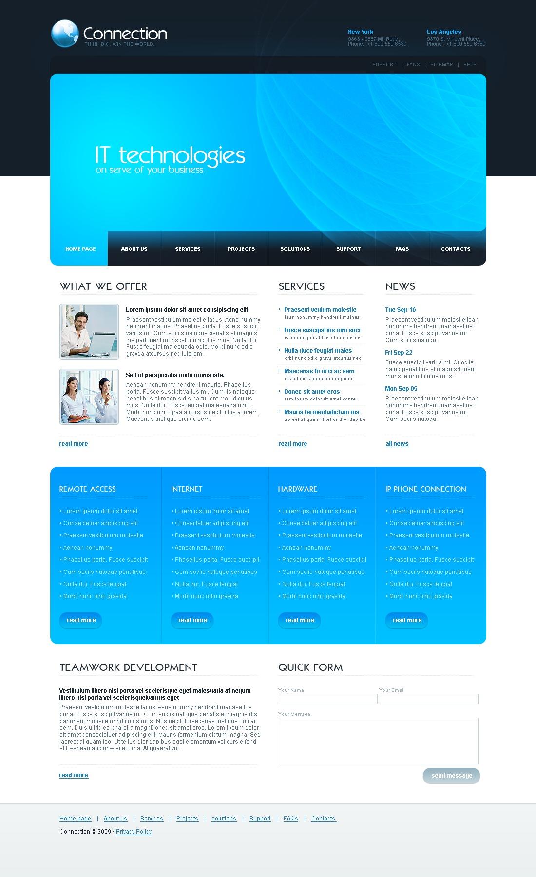Tema siti web per un sito di comunicazioni for Sito web di progettazione edilizia