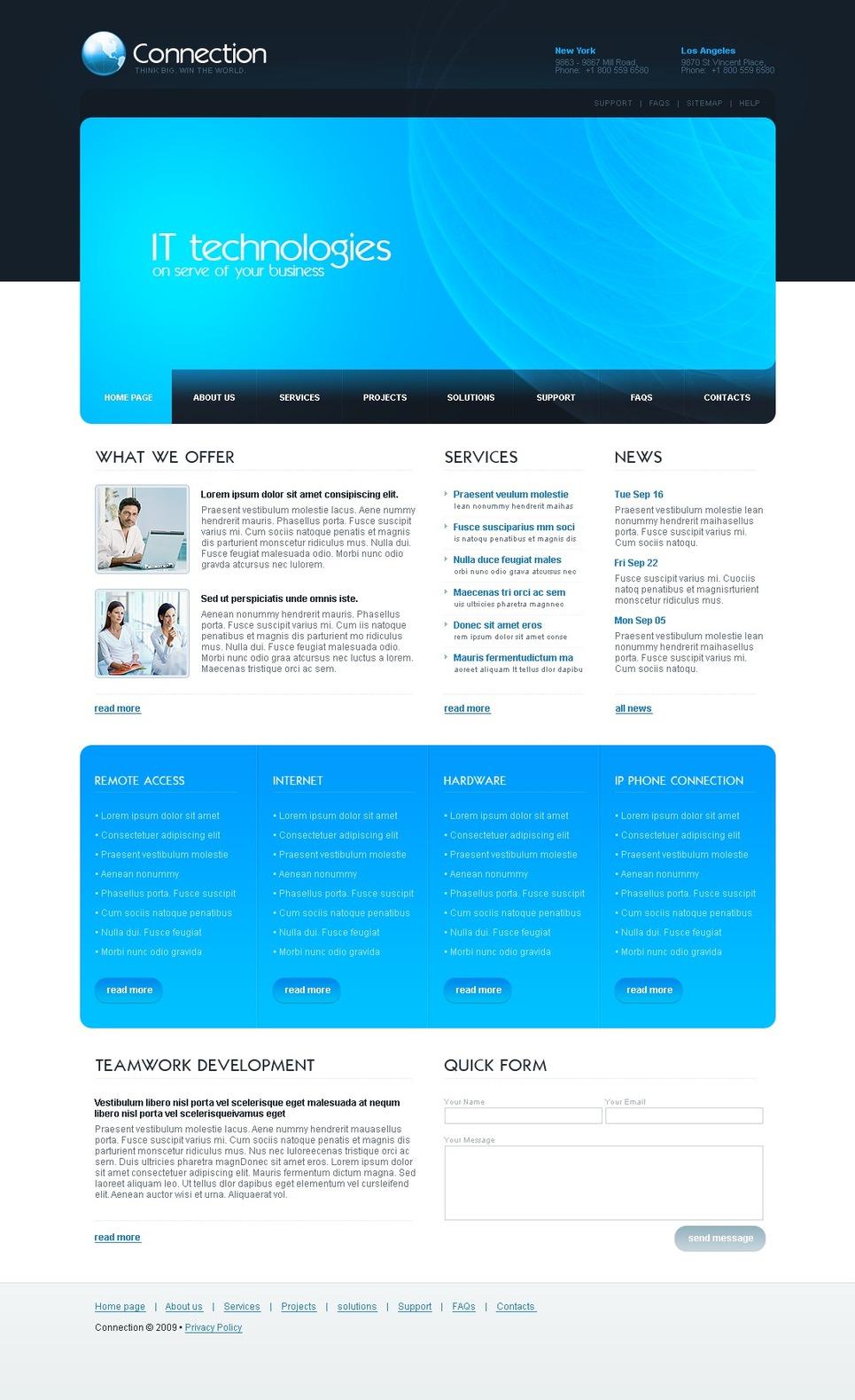 Tema siti web per un sito di comunicazioni for Siti web di home plan