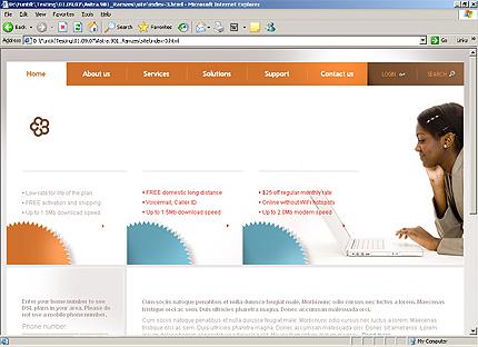Page d'accueil HTML du kit graphique #25618