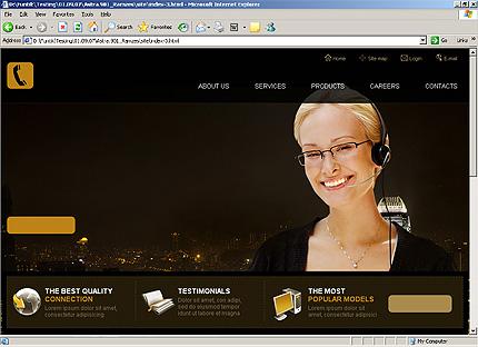 Page d'accueil HTML du kit graphique #25659