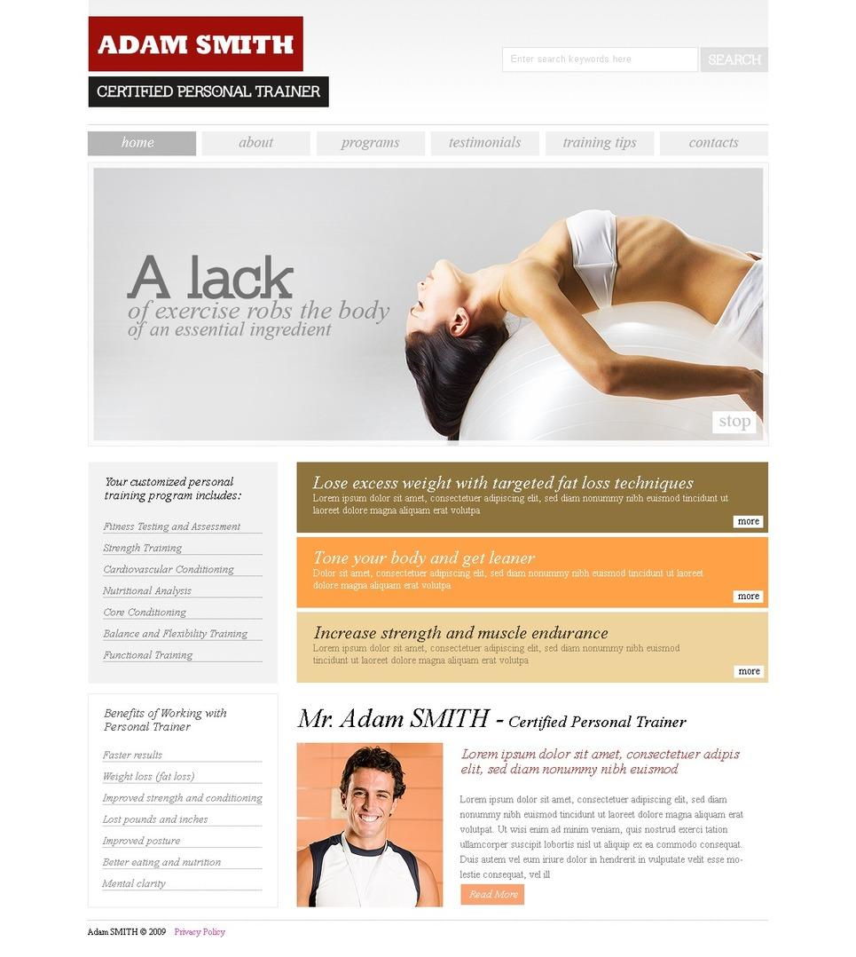 Modello siti web per un sito di fitness for Siti web di costruzione domestica