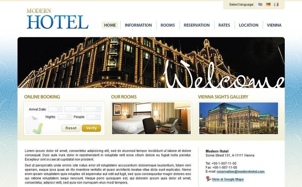 Plantilla PSD #25688 para Sitio de Hoteles New Screenshots BIG
