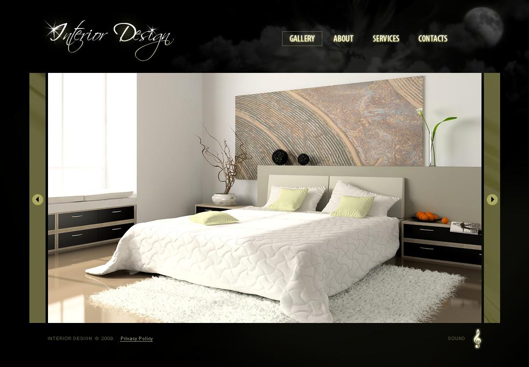 Tema flash 25670 per un sito di design di interni - Design di interni ...