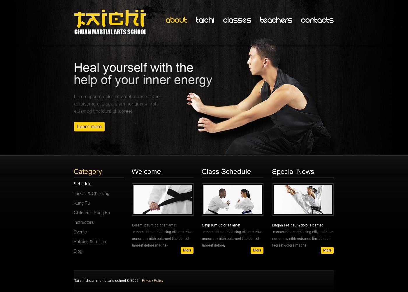 Website Vorlage #25624 für Kampfsport