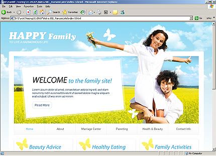 Page d'accueil HTML du kit graphique #25799