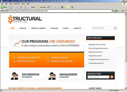 Page d'accueil HTML du kit graphique #25826