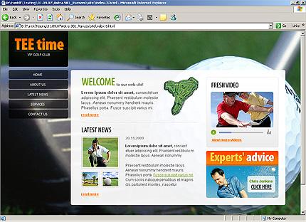 Page d'accueil HTML du kit graphique #25858