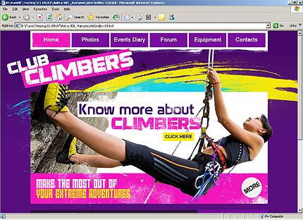 Page d'accueil HTML du kit graphique #25867