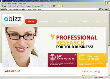 Page d'accueil HTML du kit graphique #25870