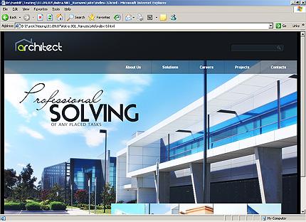 Page d'accueil HTML du kit graphique #25884