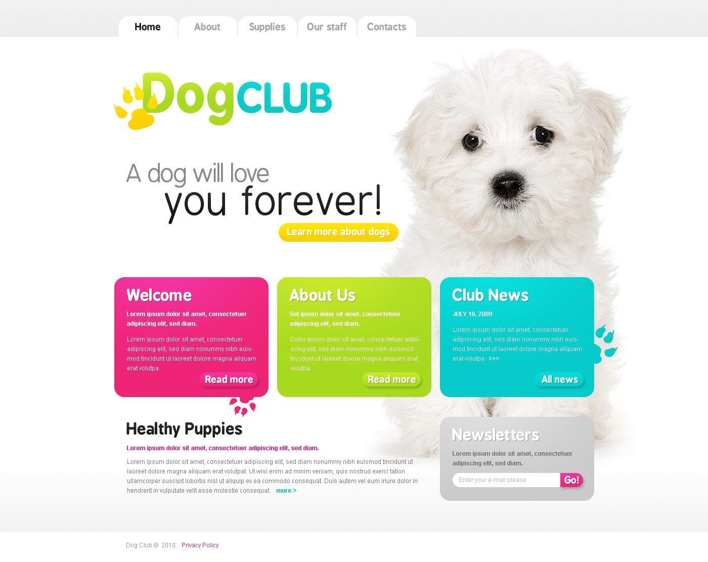 Dog website template 26007 dog website template maxwellsz