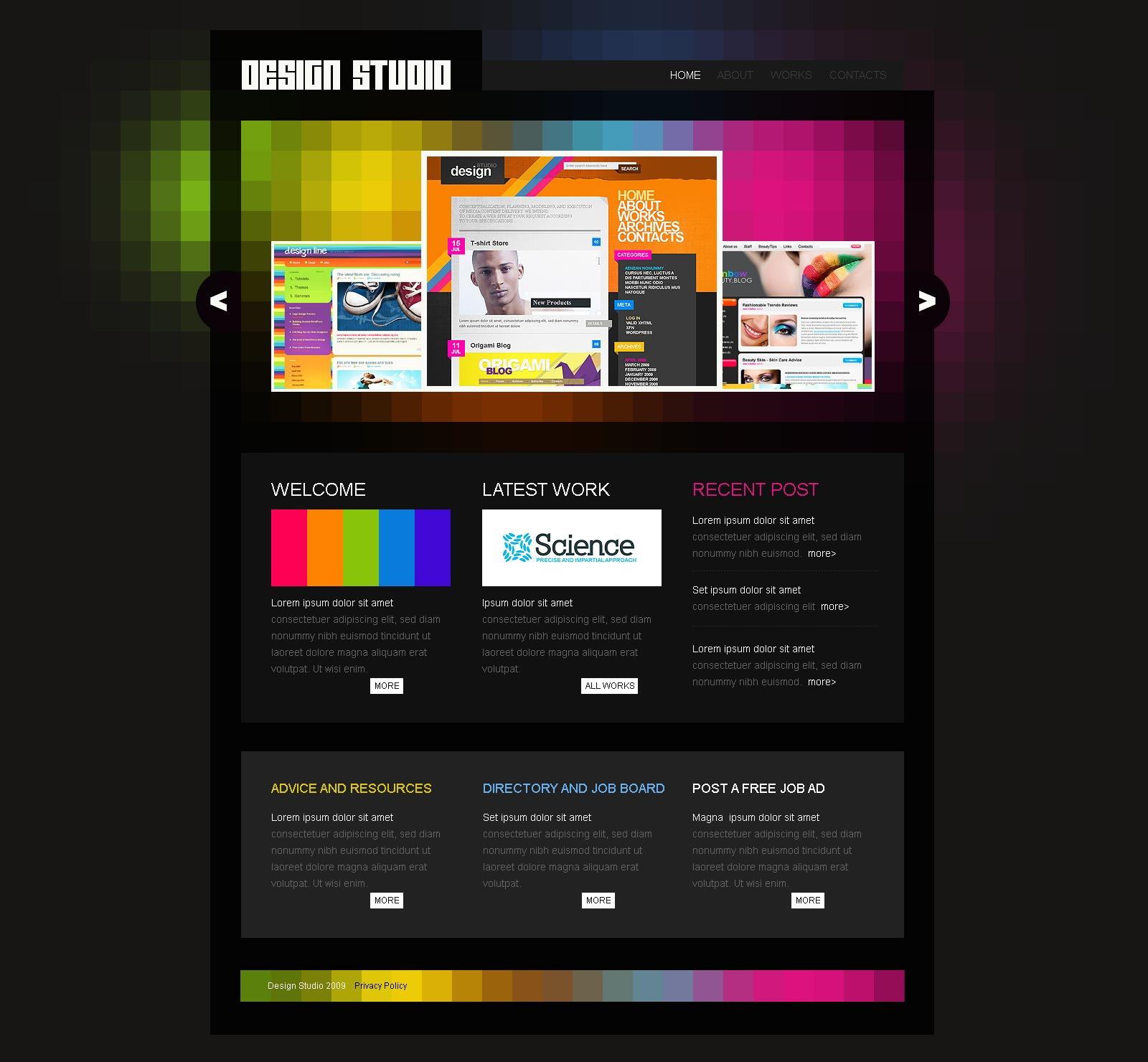 Template siti web 26017 per un sito di web design for Sito di design