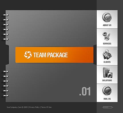 SWiSH Template 26103 Main Page Screenshot