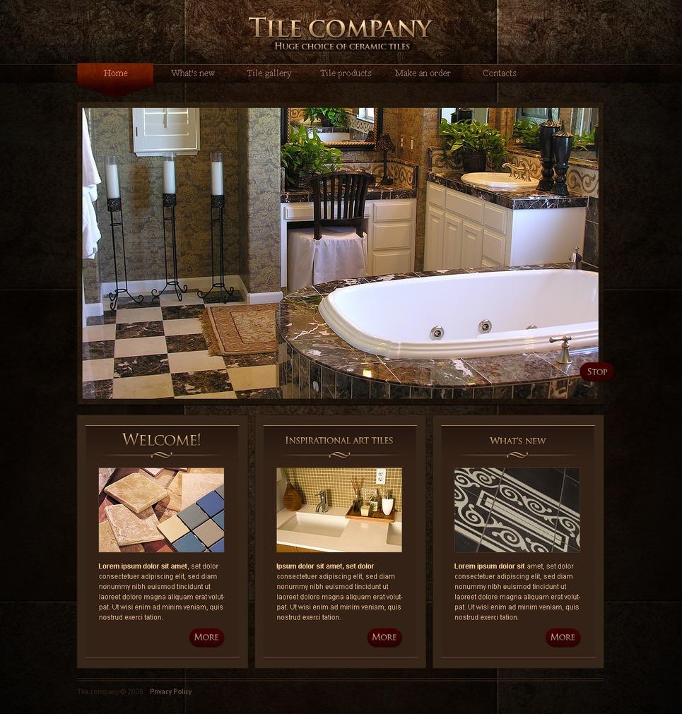 Website template over interieur design 26184 for Site design interieur
