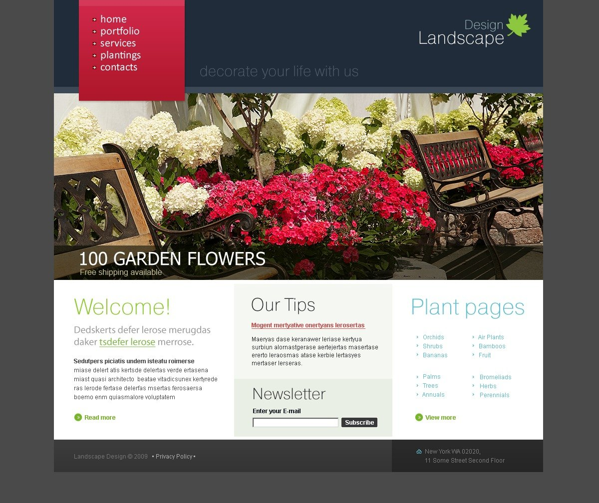 Landscape Design Website Template #26116