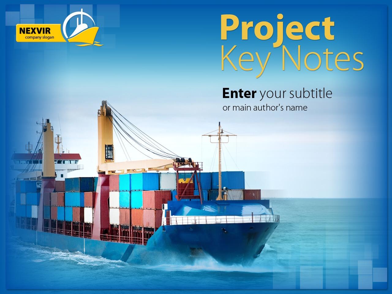 Modèle PowerPoint pour site maritime #26283