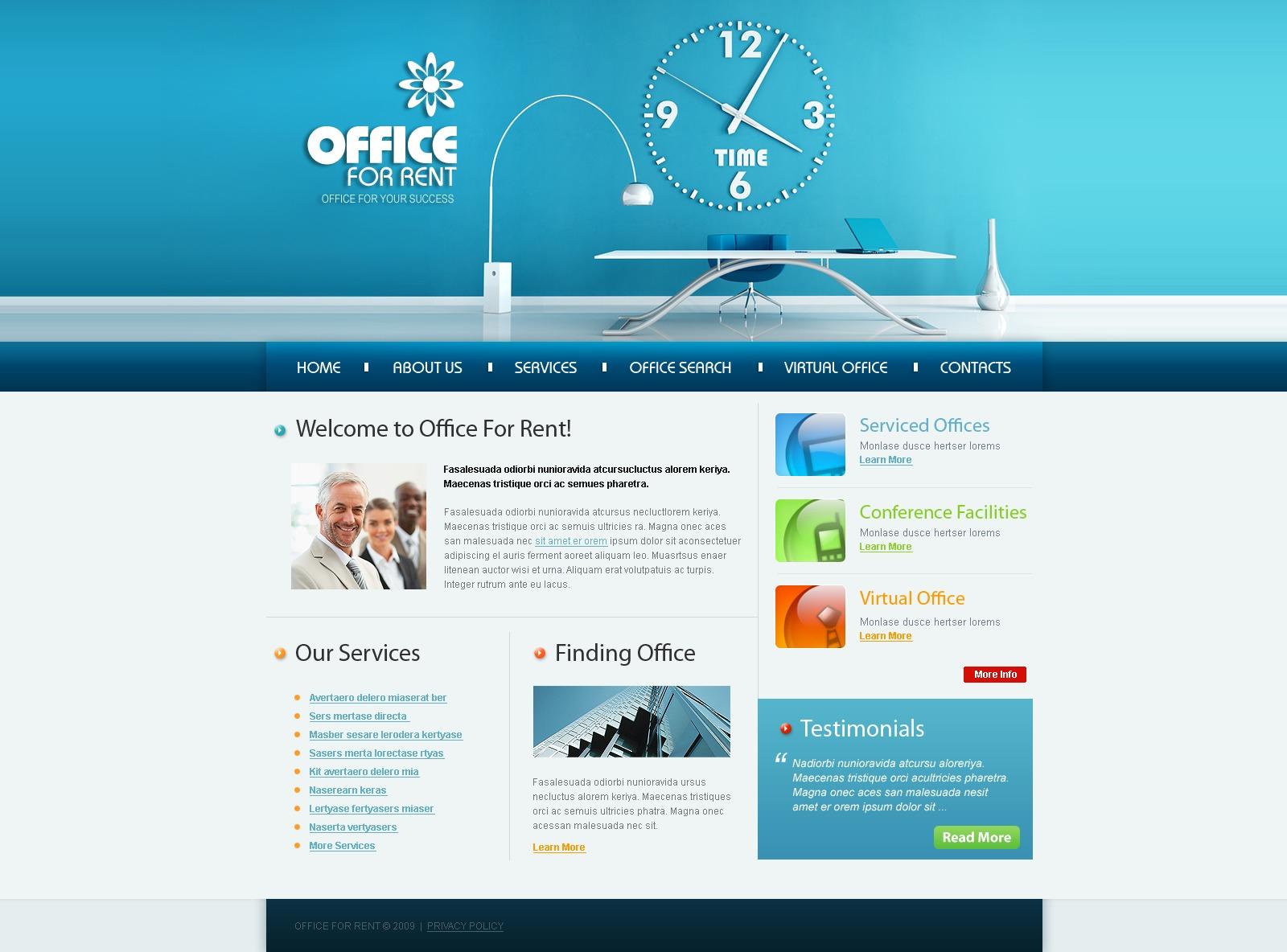 Modello siti web per un sito di ufficio for Siti web di costruzione domestica