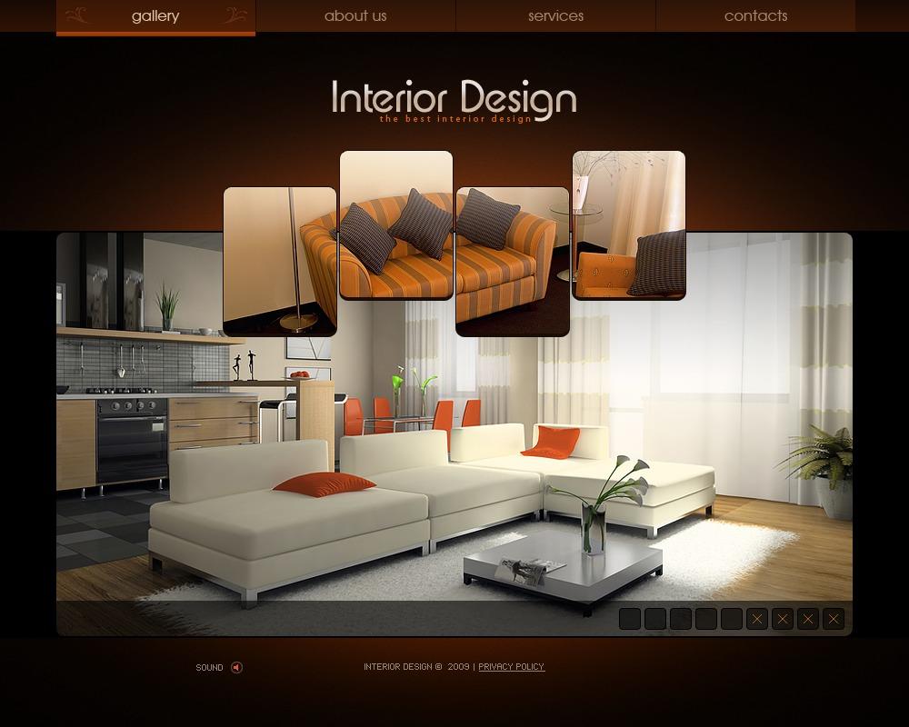 Tema flash per un sito di design di interni for Corso di design di interni