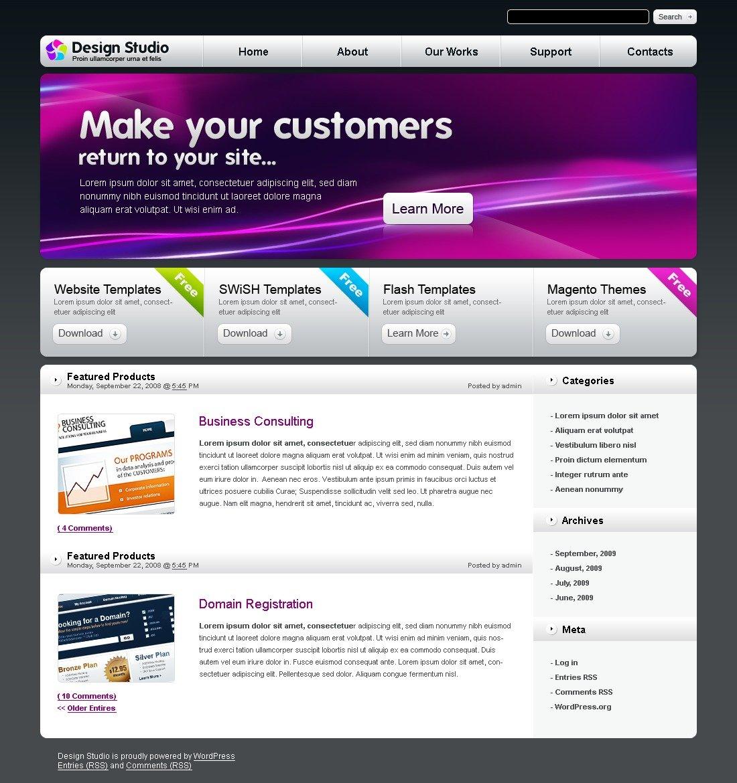 WordPress thema over Ontwerpstudio №26399 - screenshot