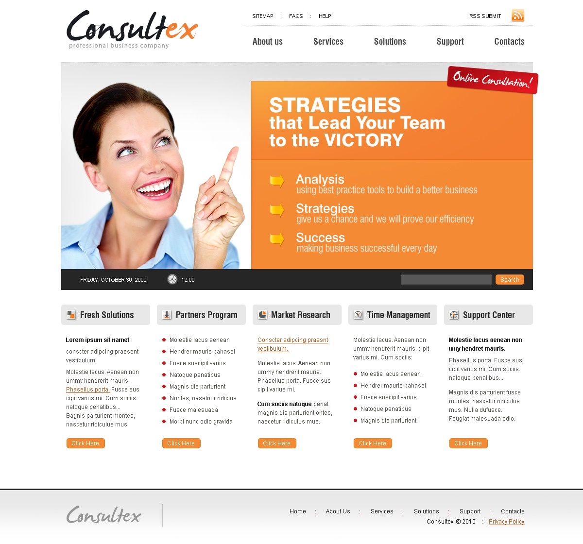 Consulting website template 26458 for Consulting website