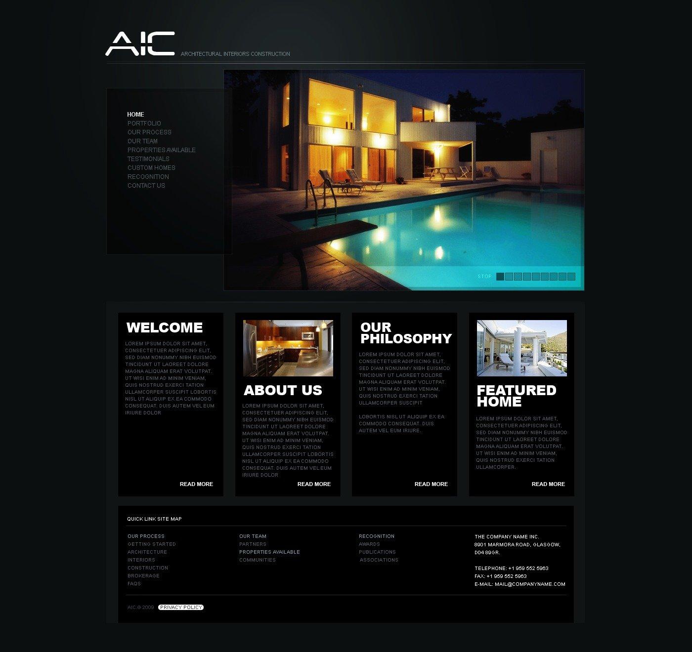 Interior Design Website Template 26452